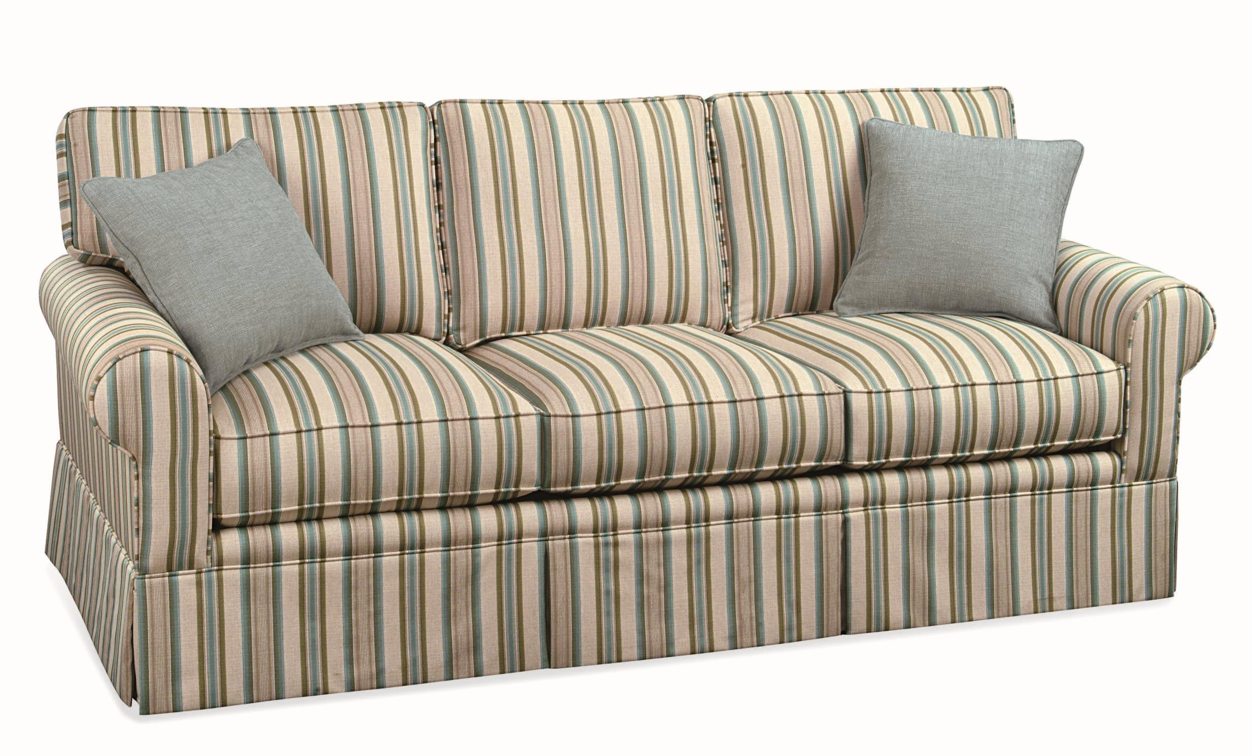 braxton culler benton casual three seater sofa with rolled arms