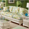 Braxton Culler Captiva  Tropical Wicker Sofa with Turned Bun Feet - 1952-011