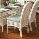 Braxton Culler Captiva  Tropical Wicker Side Chair with Upholstered Seat - 1952-028