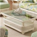 Vendor 10 Captiva  Tropical Wicker Coffee Table with Beveled Glass Top