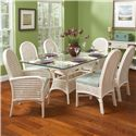 Vendor 10 Captiva  Tropical Seven Piece Dining Set with Beveled Glass Table Top