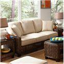 Braxton Culler Casablanca  Tropical Wicker Sofa with Track Arms - 2916-011