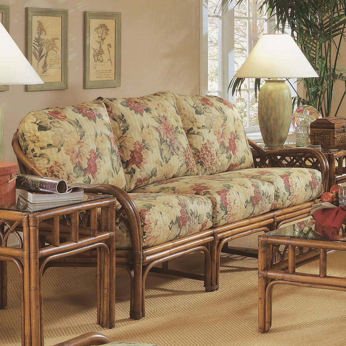Braxton Culler Edgewater Tropical Rattan Sofa With English Arms Ahfa Sofa Dealer Locator