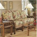Braxton Culler Edgewater Tropical Rattan Sofa with English Arms - 914-011