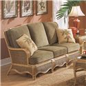 Braxton Culler Shorewood Tropical Rattan Three Seater Sofa with Serpentine Mouldings - 1910-011