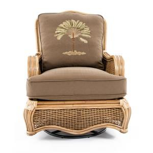 Tropical Swivel Glider W/ Rattan