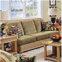 Braxton Culler 953 Stationary Sofa with Exposed Wood - 953-011
