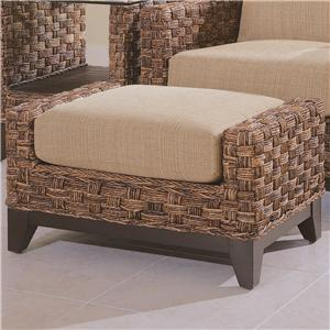 Rectangular Ottoman with Wicker Base