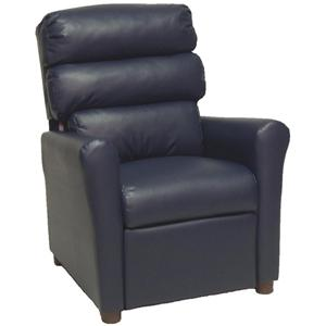 Brazil Furniture Group 1455 Contemporary Child's Recliner with Channel-Tufted Back