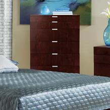 Brazil Furniture Group Violet Contemporary Brushed Merlot 5-Drawer Chest