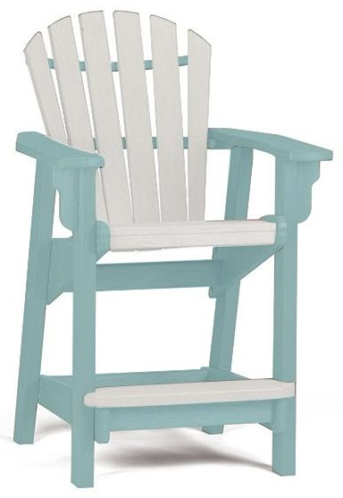 Adirondack Coastal Counter Chair by Breezesta at Johnny Janosik