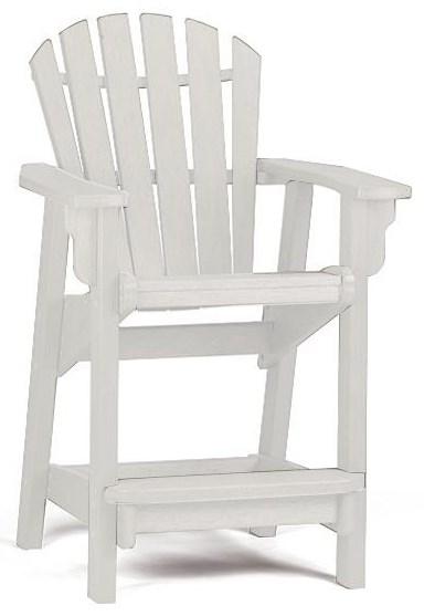 Adirondack Coastal Counter Chair by Breezesta at Johnny Janosik