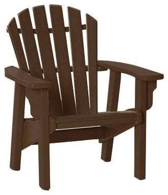 Upright Coastal Adirondack Chair