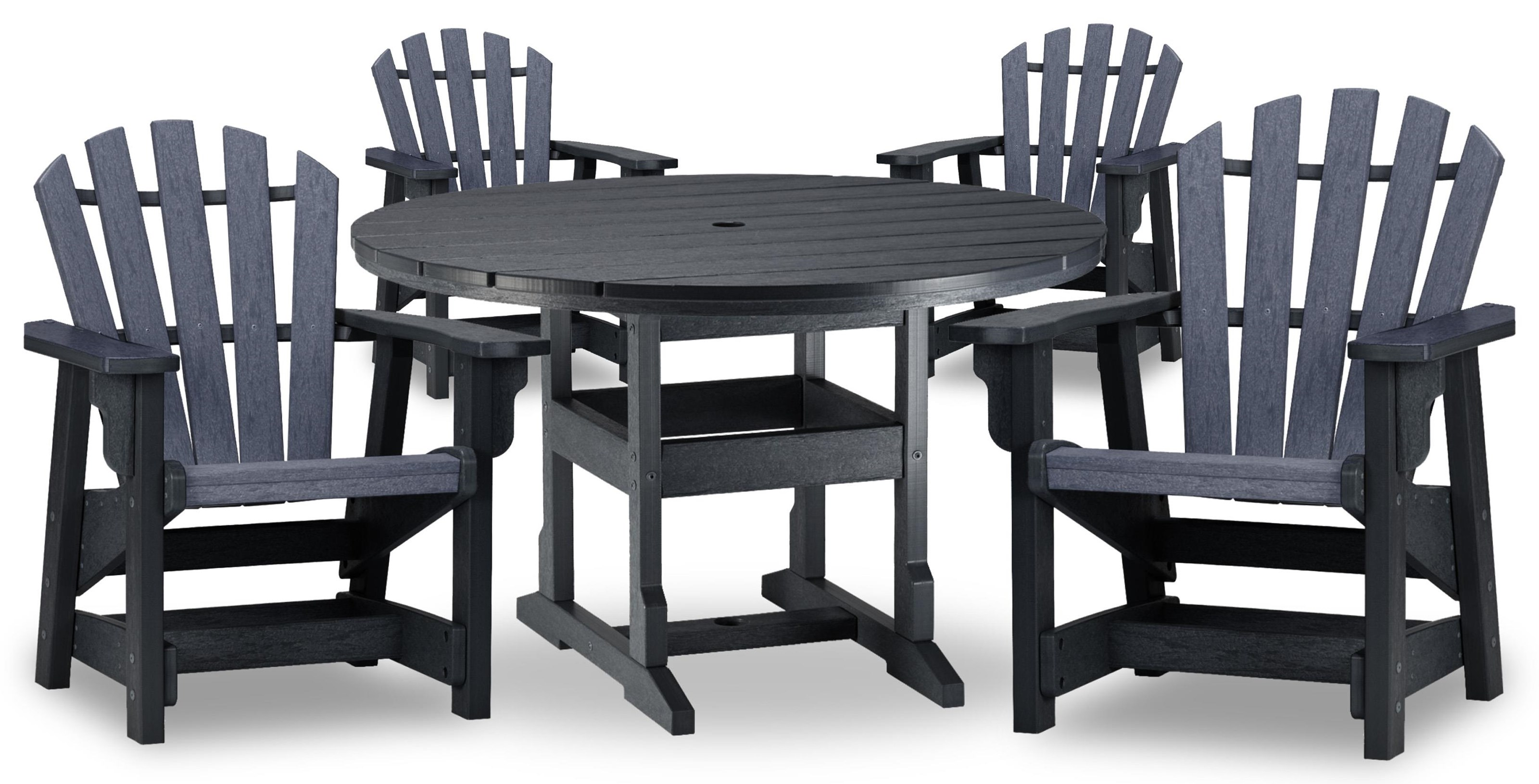 Coastal 48 inch Table and 4 Chairs by Breezesta at Johnny Janosik