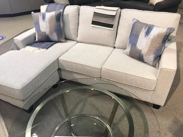 1255 Sofa W/chaise/rewind Cemment/2 by Brentwood Classics at Stoney Creek Furniture