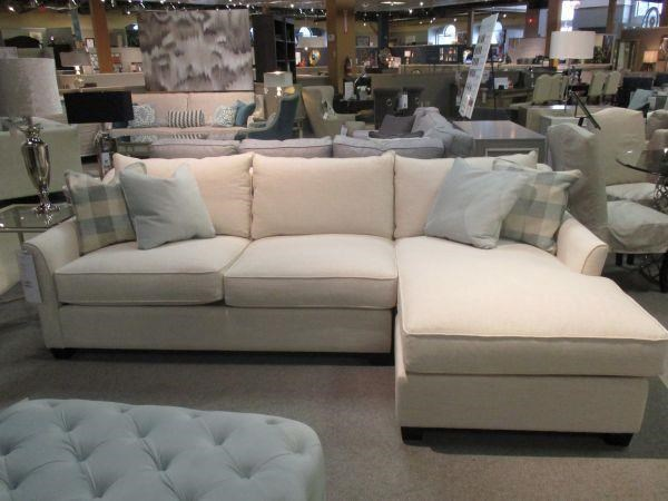 Brentwood Classics 1270 Gene Sectional Sofa with Chaise - Item Number: 1270-31+28 Nubia Pearl