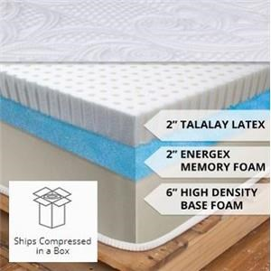 "Wayside Furniture Latex Foam 10 Queen 10"" Latex Mattress"