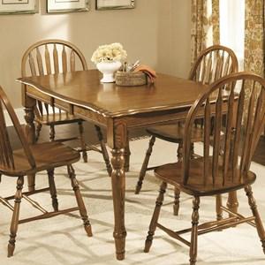 Classic American Oak Rectangular Leg Table by Brooks