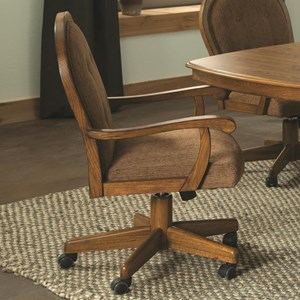 Easy Living Caster Upholstered Swivel Arm Chair by Brooks