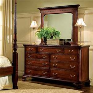 Elegant Broughton Hall Birkdale 9 Drawer Dresser U0026 Mirror