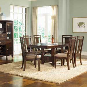 Broyhill Furniture Northern Lights 7 Piece Adjule Height Table And Chair Se