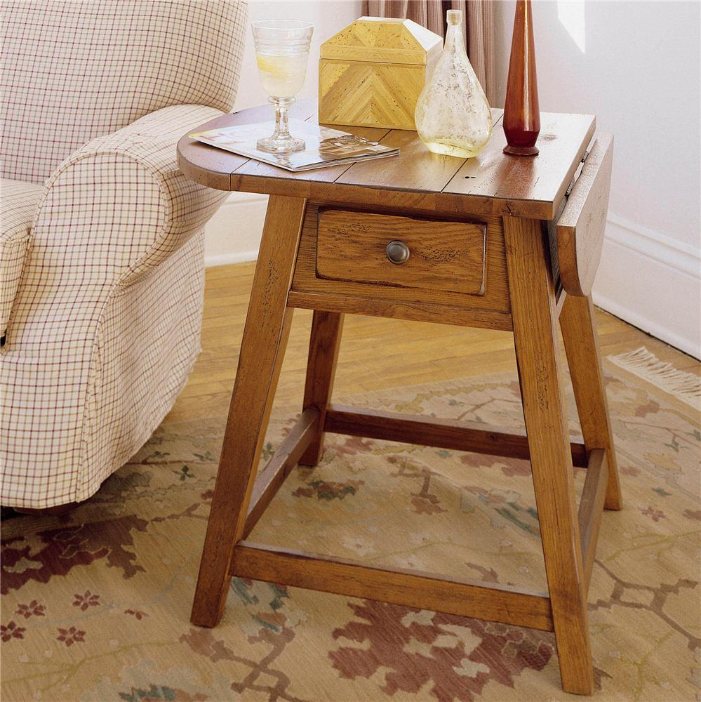 broyhill furniture attic heirlooms splay leg end table with 1