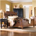 Broyhill Furniture Attic Heirlooms Queen Feather Headboard and Footboard Bed - Item Number: 4397-56+57-A