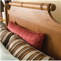 Broyhill Furniture Attic Heirlooms Queen Feather Headboard and Footboard Bed - 4397-56+57-A - Detail of Headboard.