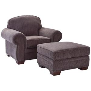 <b>Quick Ship</b> Chair and Ottoman