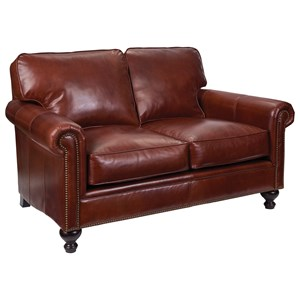 Harrison Traditional Loveseat with Nail Head Trim by Broyhill Express