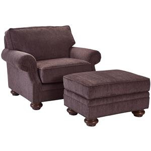 Chair & 1/2 and Ottoman