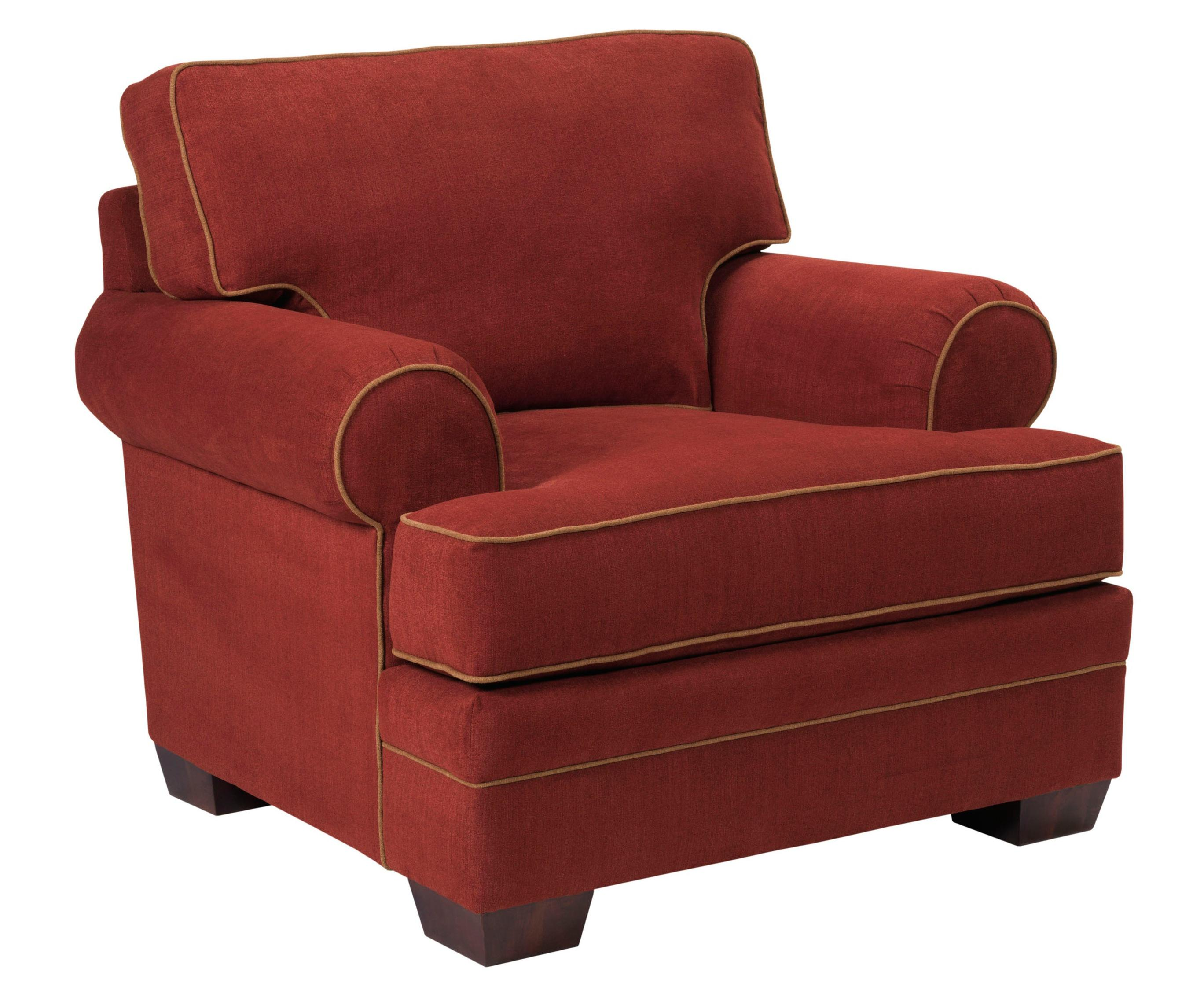 Landon Transitional Chair With Rolled Arms By Broyhill Express