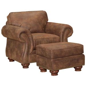 Broyhill Express Laramie <b>Quick Ship</b> Chair & Ottoman