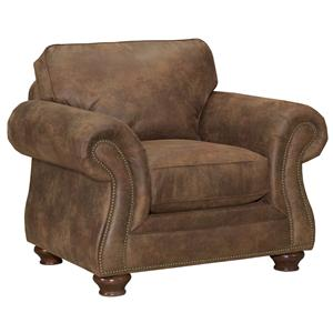 Laramie Quick Ship Traditional Chair with Nailhead Trim by Broyhill Express