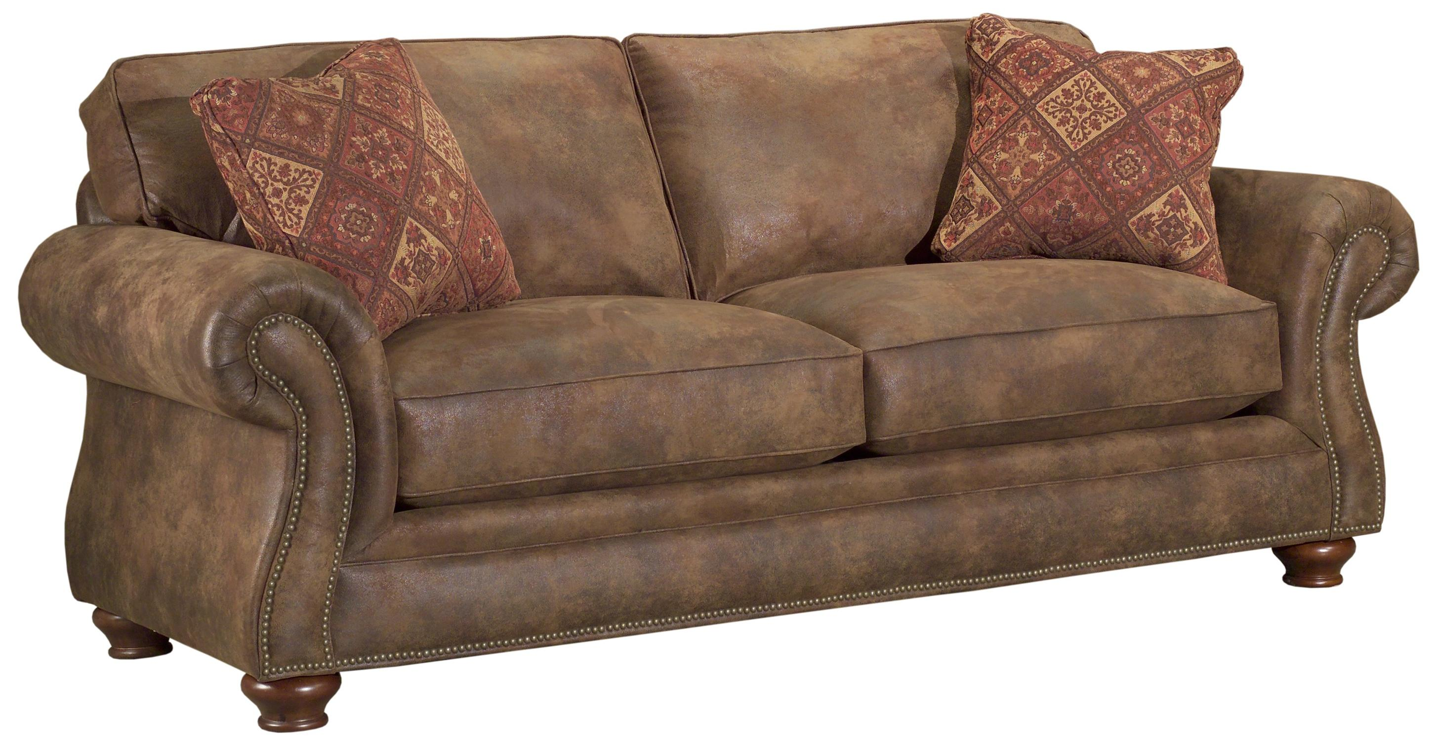 Broyhill Express Laramie Quick Ship Traditional Sofa With Nailhead Trim Colder S Furniture And
