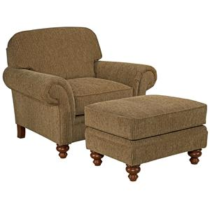 Broyhill Express Larissa <b>Quick Ship</b> Chair & Ottoman