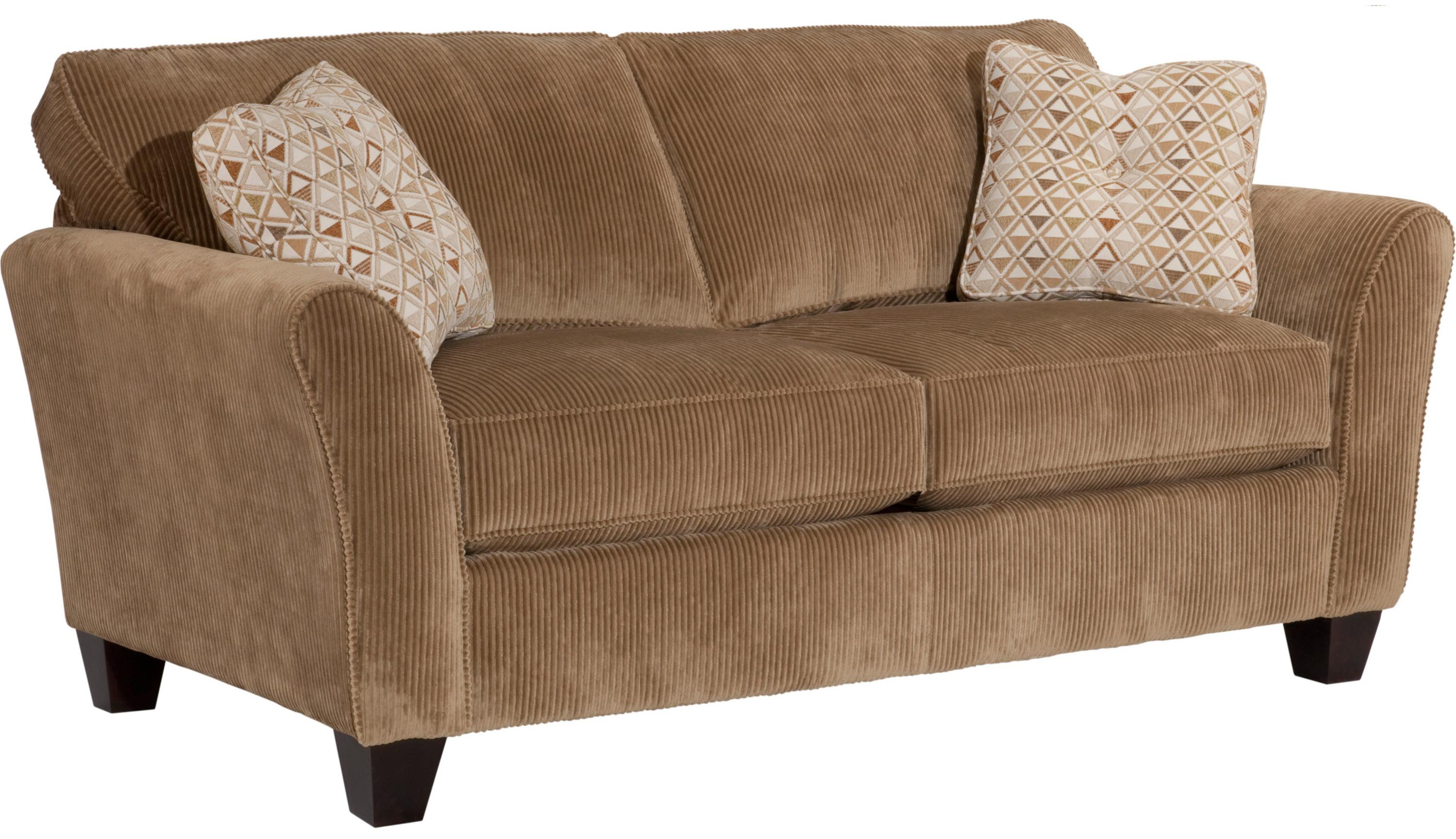 Broyhill Express Maddie Contemporary Apartment Sofa With Flared Arms   AHFA    Sofa Dealer Locator