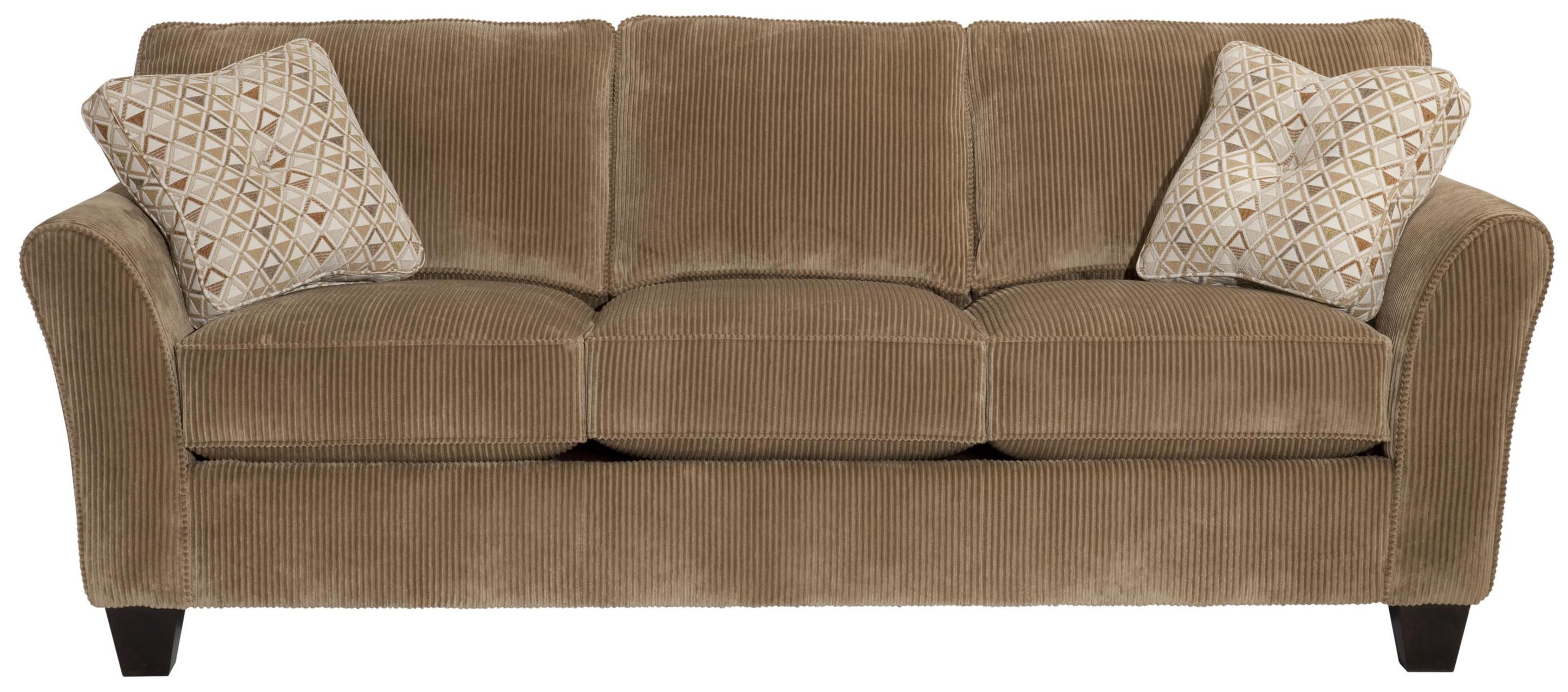 Maddie Quick Ship Sofa With Flared Arms By Broyhill Express