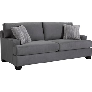 Nash Quick Ship Transitional Sofa with Track Arms by Broyhill Express