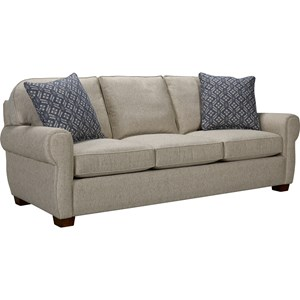 Vedder Transitional Quick Ship Sofa with Rounded Seat Back by Broyhill Express