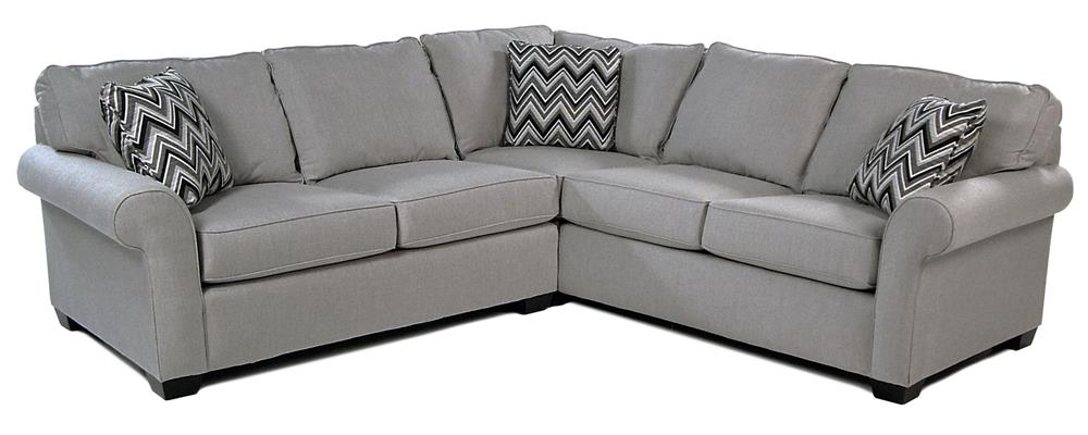 Broyhill Furniture Penobscot 2PC Sectional w/ Sunbrella Fabric - Item Number: 6627-3+2
