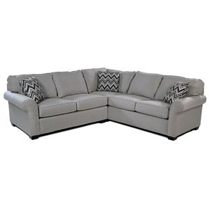Broyhill Furniture Penobscot 2PC Sectional w/ Sunbrella Fabric