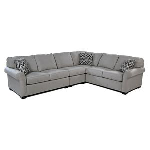 Broyhill Furniture Penobscot 3-PC Sectional w/ Sunbrella Fabric