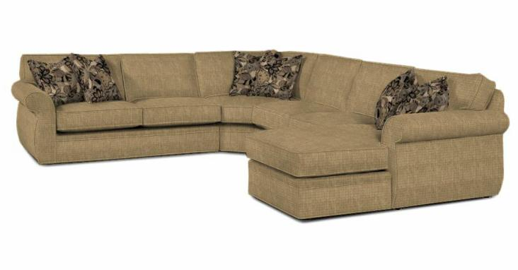 Broyhill Furniture Veronica Sectional Sofa - Item Number: 6170-3+8+6171-1+4