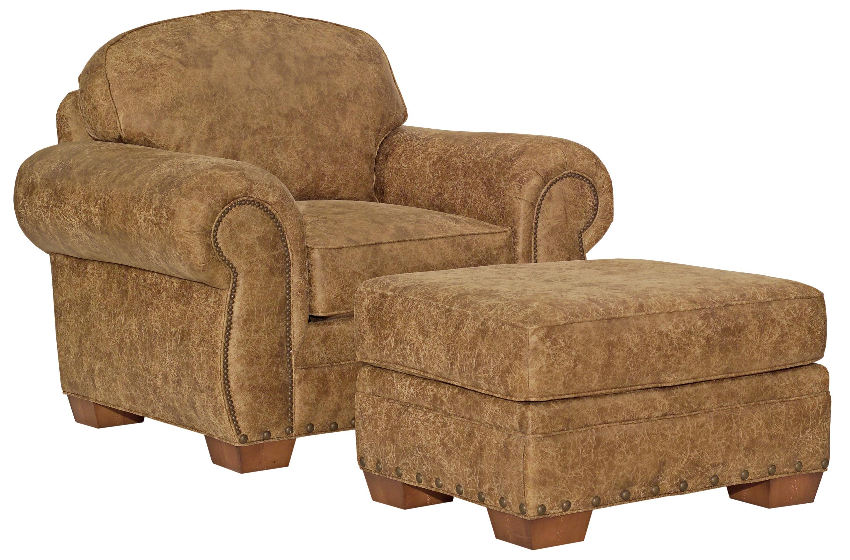 Broyhill Furniture Cambridge Casual Style Chair and Ottoman - Item Number: 5054-0+5