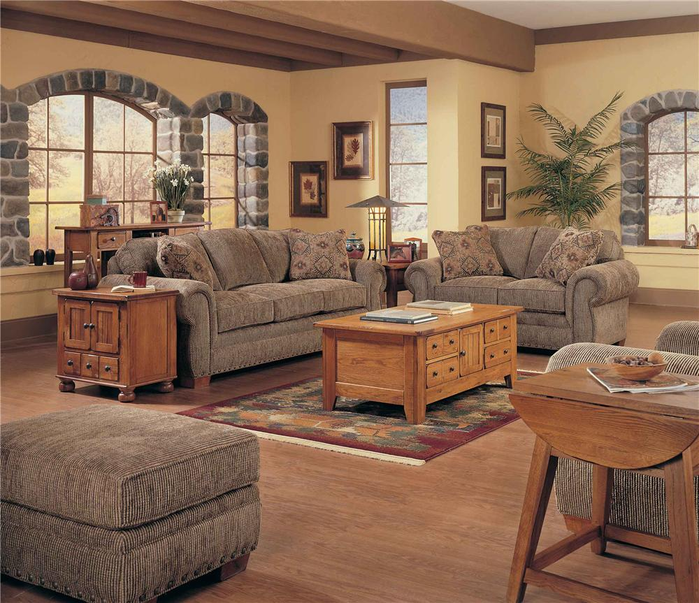 Broyhill Furniture Cambridge Casual Style Loveseat With Nail Head Trim Knight Furniture