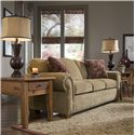 Broyhill Furniture Cambridge Casual Style Sofa with Nail Head Trim - 5054-3