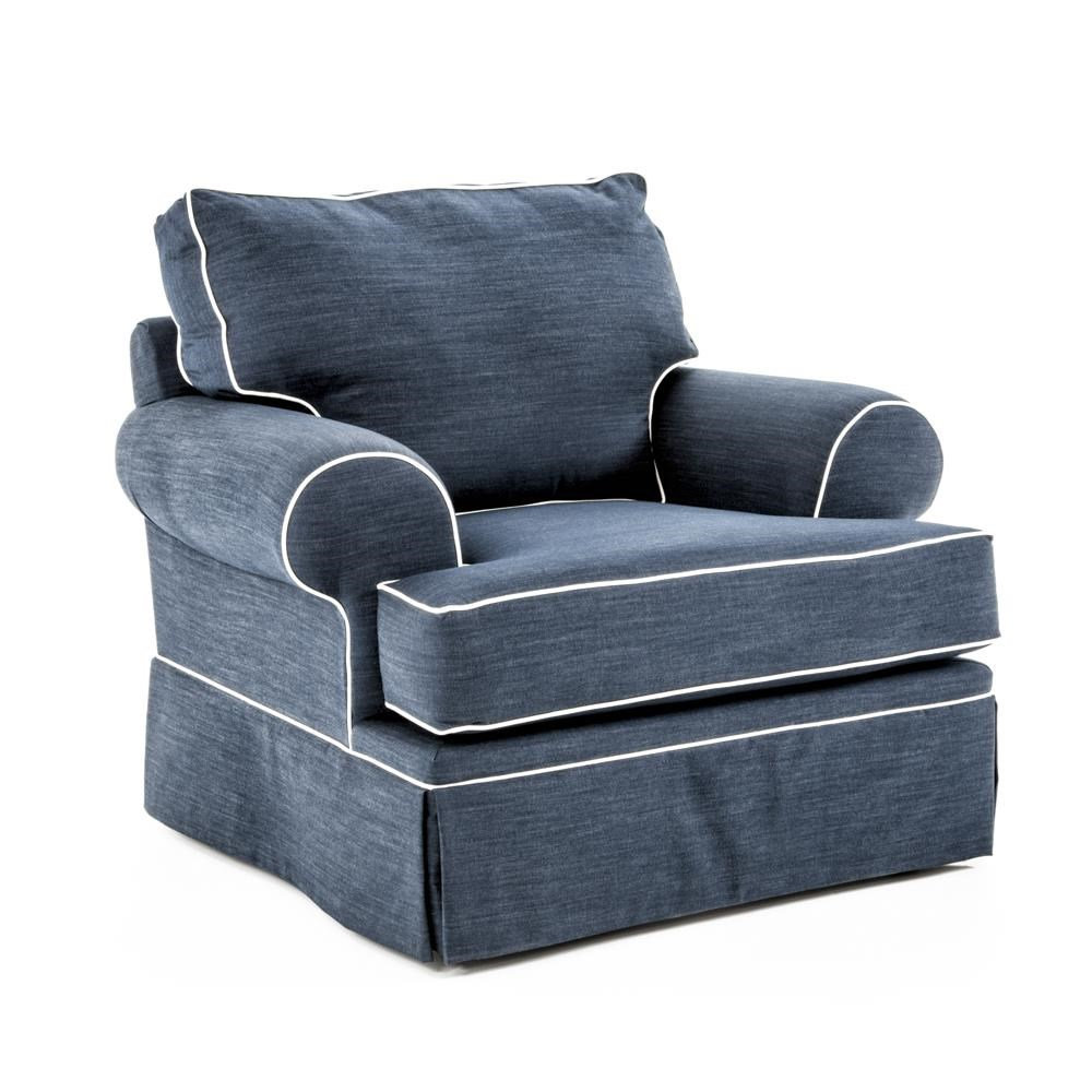 ... Broyhill Emily Sofa Blue By Broyhill Furniture Emily Casual Style Chair  With Skirt ...