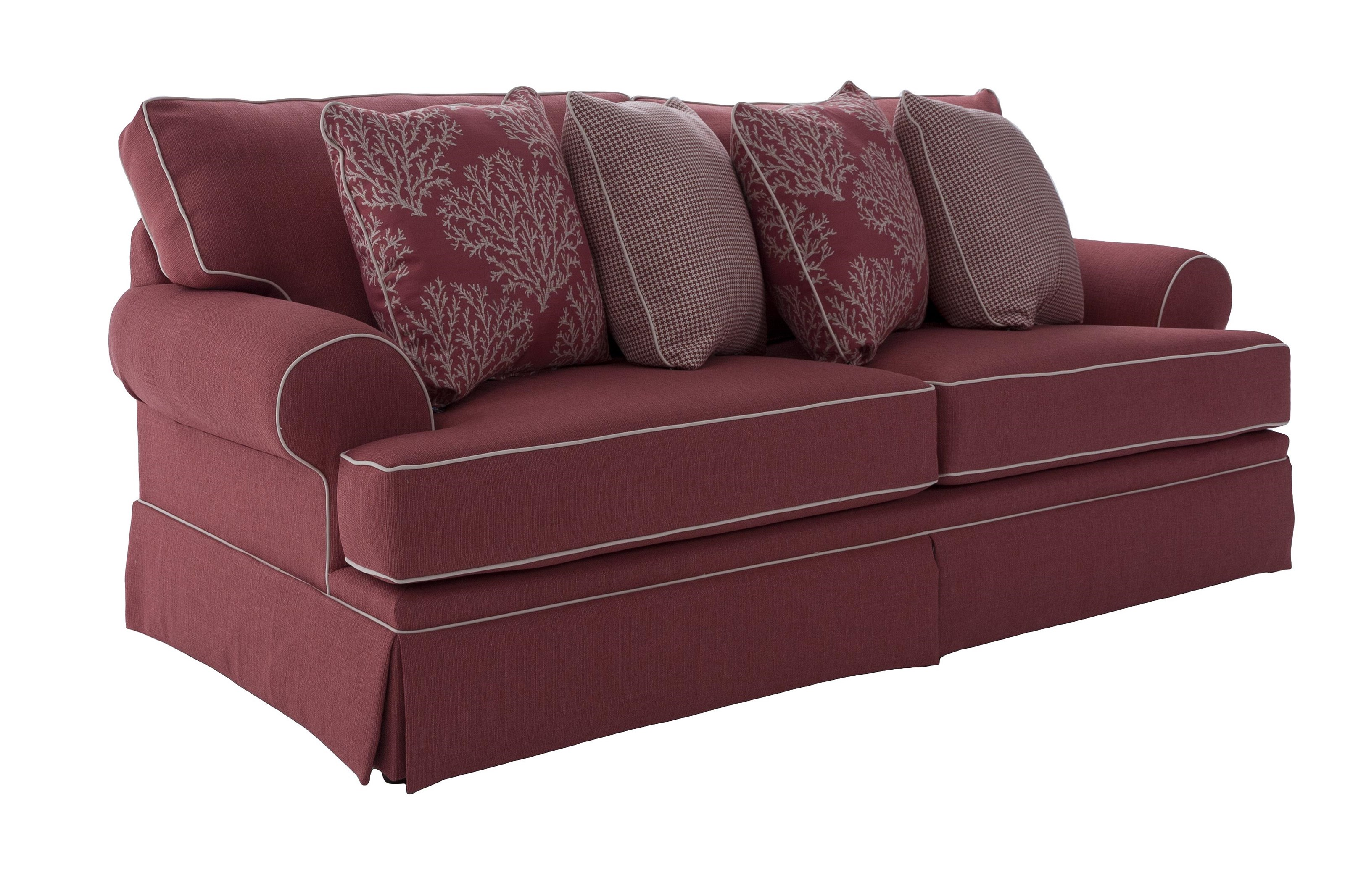 Broyhill Furniture Emily Casual Style Sofa - Item Number: 6262-3-Coral