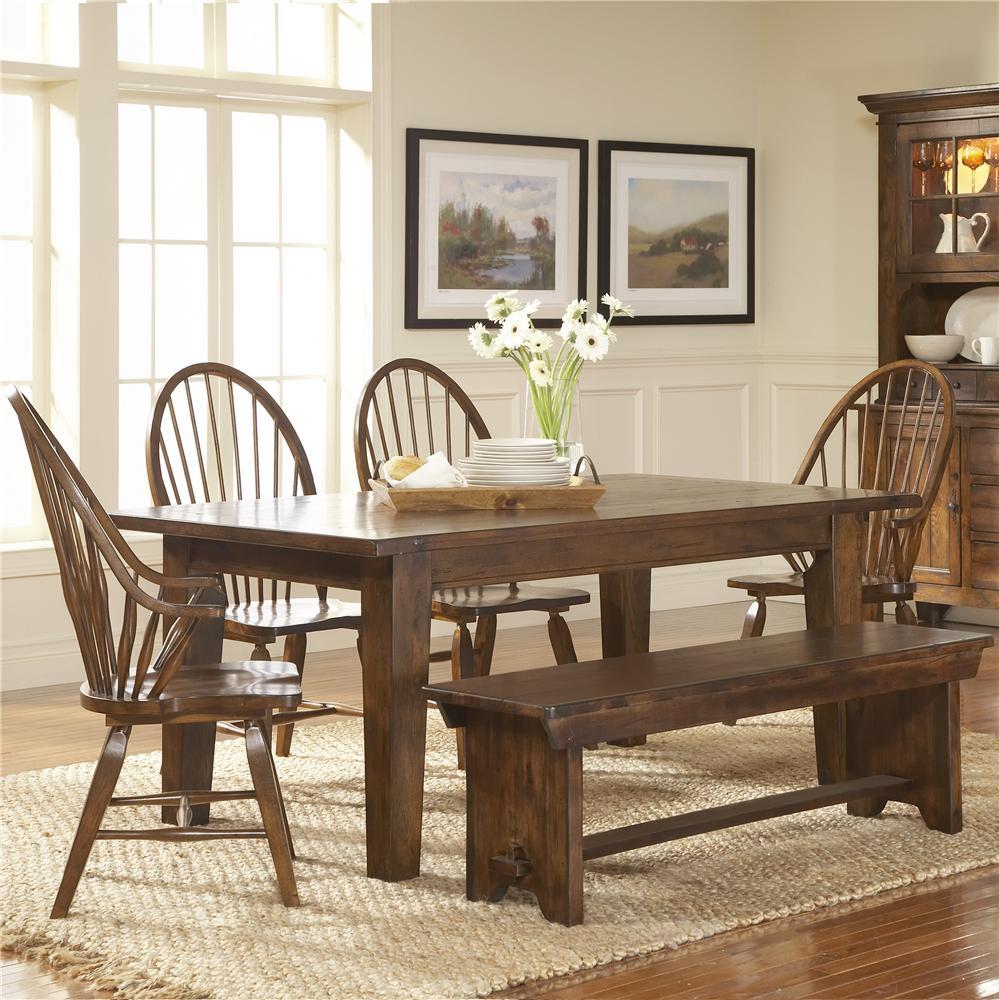 Broyhill Furniture Attic Rustic 5Pc Dining Room - Item Number: 5399-42-85x3-96x1